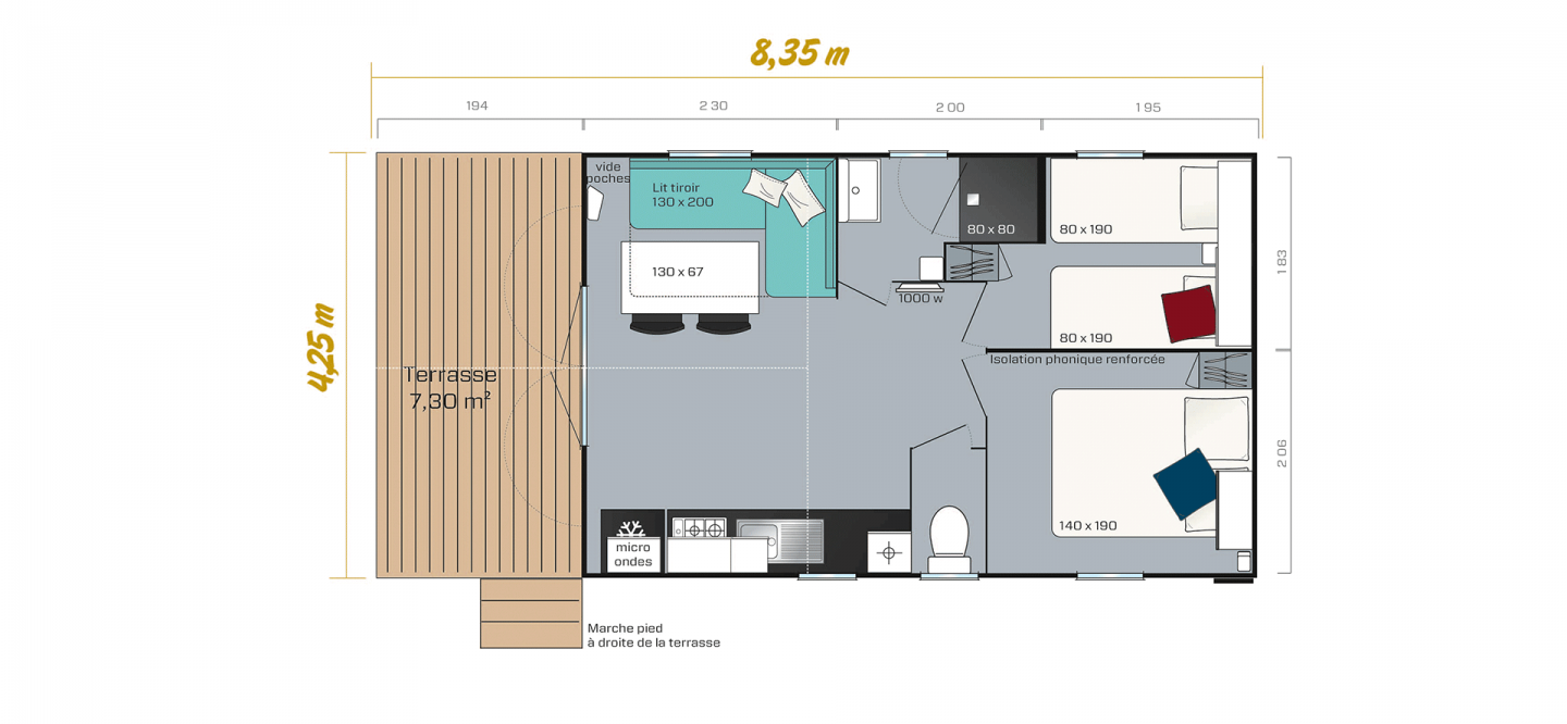 Plan du mobil home Loggia Bay