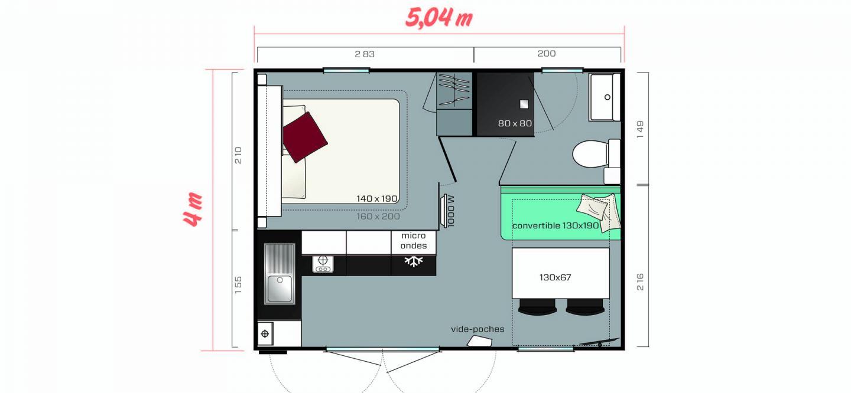 Plan du mobil home Cahita Riviera