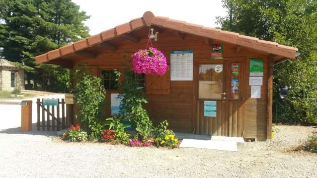 Bureau d'accueil camping